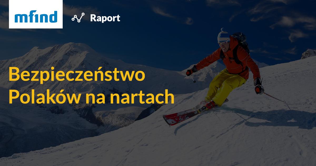 Raport o bezpieczeństwie Polaków w sezonie narciarskim<