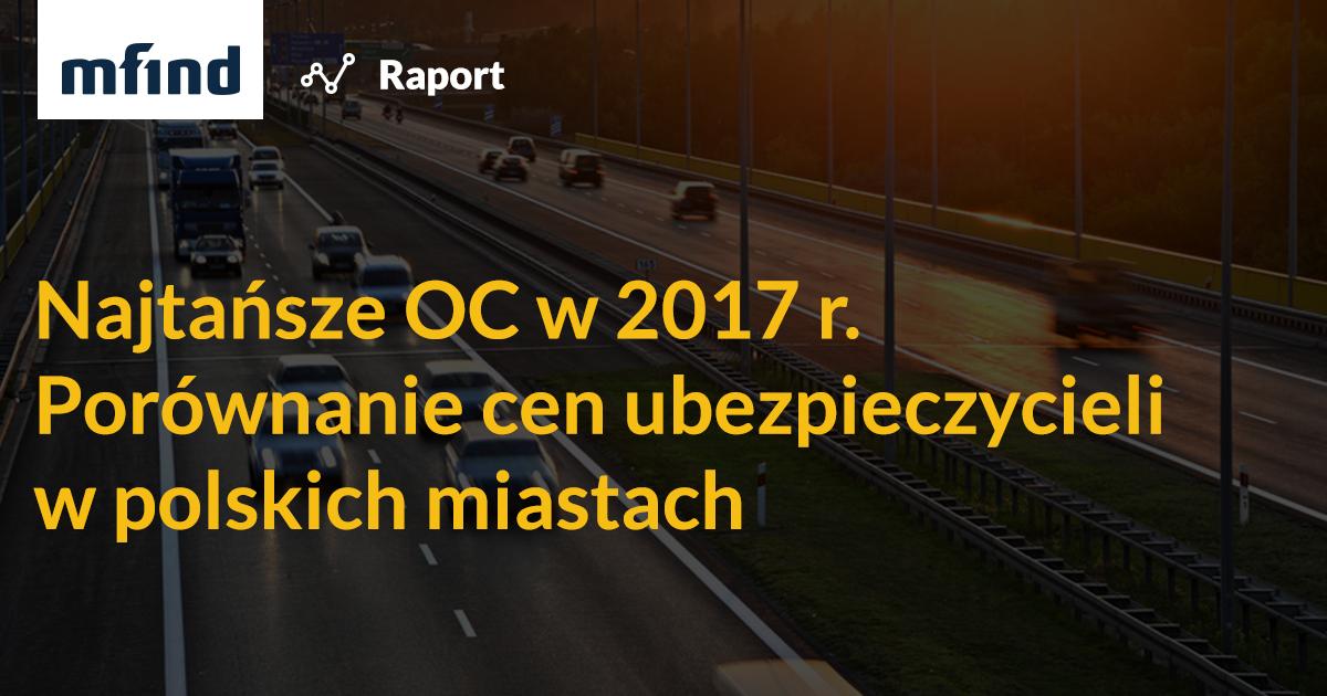 Ceny OC wzrosły o 55%. Pechowy kierowca może przepłacić nawet 1115 zł!